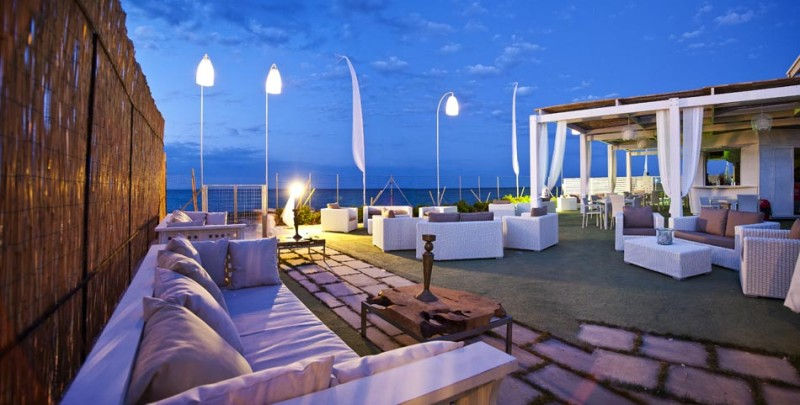 lounge bar on the beach