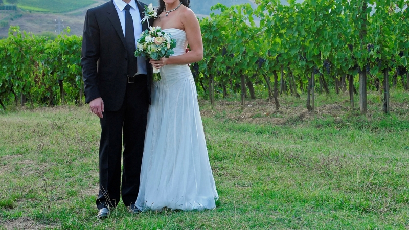 Vineyard wedding in italy